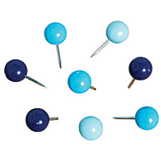 See Jane Work Pushpins Ball Blue