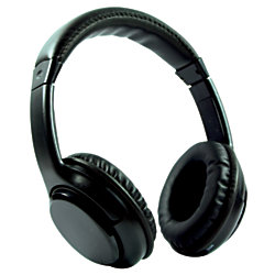 craig bluetooth wireless over the ear headphones with earbuds black by office. Black Bedroom Furniture Sets. Home Design Ideas