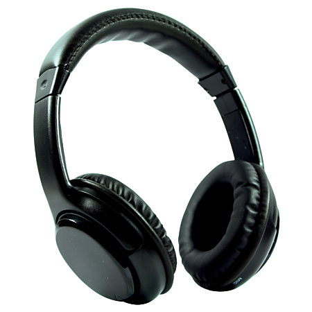 craig bluetooth wireless over the ear headphones with earbuds black by office depot officemax. Black Bedroom Furniture Sets. Home Design Ideas