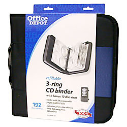 Office depot brand cddvd 3 ring binder 192 capacity with Depot ringcenter