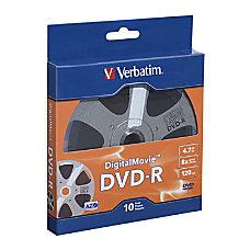 Verbatim Digital Movie DVD R Bulk