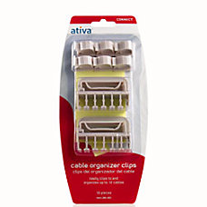 Ativa Cable Clips White Pack of