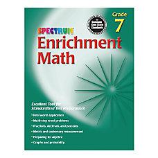 Spectrum Enrichment Math Workbook Grade 7