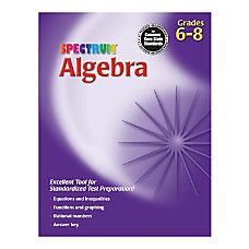 Spectrum Algebra Workbook Grades 6 8