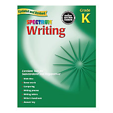 Spectrum Writing Workbook Kindergarten