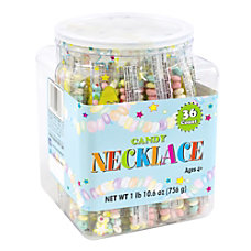 Smarties Candy Necklaces Tub Of 36