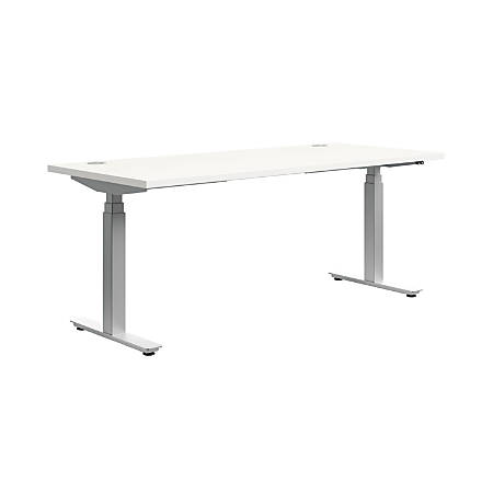 Hon Height Adjustable Table Base Silver By Office Depot