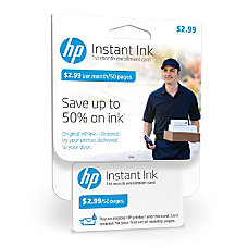 HP Instant Ink 50 Page Enrollment