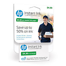 HP Instant Ink 100 Page Enrollment