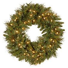 Pre Lit Tiffany Fir Wreath 24