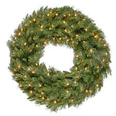 Pre Lit Tiffany Fir Wreath 36