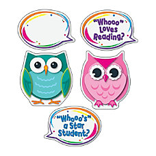 Carson Dellosa Colorful Owl Talkers Bulletin