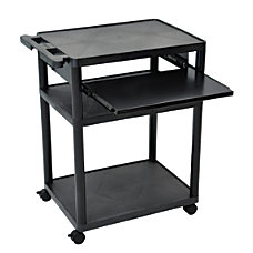 Luxor Plastic Utilty Cart 4 Shelves