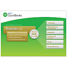 QuickBooks Premier 2016 Traditional Disc