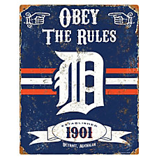 Party Animal Detroit Tigers Embossed Metal
