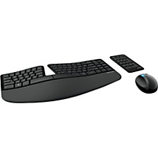 Microsoft Sculpt Ergonomic Wireless Desktop KeyboardKeypadMouse