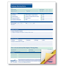 ComplyRight Carbonless Employee Warning Notice Forms
