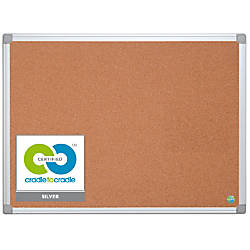 MasterVision Earth Cork Board With Aluminum