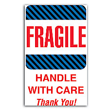 Tape Logic Labels Fragile Handle With