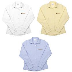 Womens Long Sleeve Oxford Shirt CottonPolyester