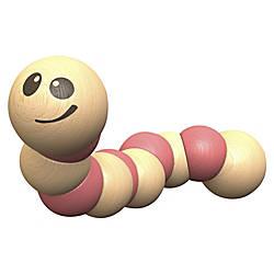 BeginAgain Toys Earthworm Wooden Toy Skill