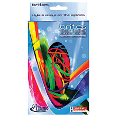 Alliance Rubber Brites Rubber Bands Assorted