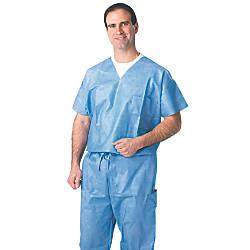 Medline Disposable Scrub Shirts X Large