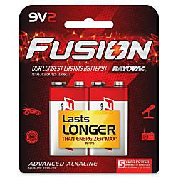 Rayovac Fusion Alkaline 9V Batteries 9V