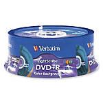 Verbatim N14285 Color LightScribe DVDR Discs