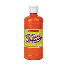 Scholastic Tempera Paint 16 Oz Orange