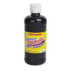 Scholastic Tempera Paint 16 Oz Black