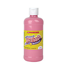 Scholastic Tempera Paint 16 Oz Pink