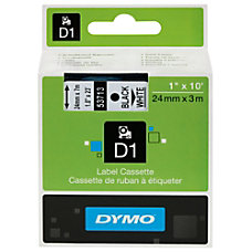 DYMO D1 53721 White On Black