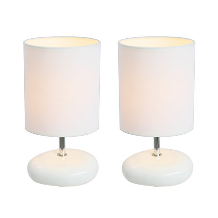 Simple designs stonies bedside table lamps 10 58 h white Simple bedside table designs