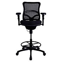 Lorell Mesh Back Stool Fabric Seat