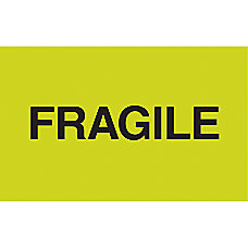 Tape Logic Labels Fragile 3 x