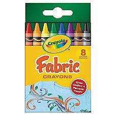 Crayola Fabric Crayons Set Box Of