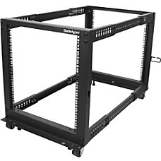 StarTechcom 12U Adjustable Depth Open Frame