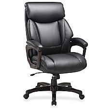 Lorell Executive Chair Bonded Leather Black