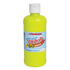 Scholastic Washable Neon Tempera Paint 16