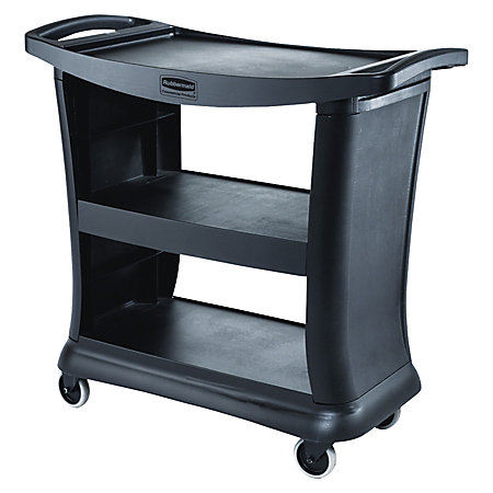 rubbermaid executive service cart black newell office depot