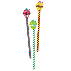 Office Depot Brand Cupcake Pencil Toppers