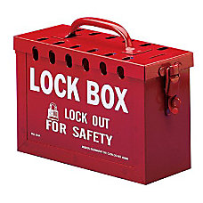 13 LOCK GROUP LOCK BOX BLUE