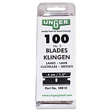 Unger 9 Single Blades Box Of