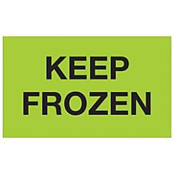 Tape Logic Climate Labels Keep Frozen