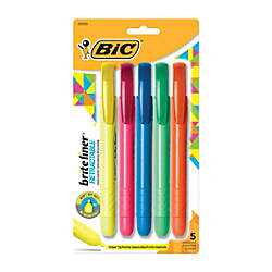 BIC Brite Liner Retractable Highlighters Assorted