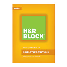 H R Block Basic Tax Software