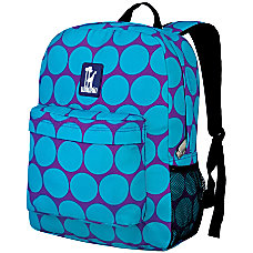 Wildkin Crackerjack Backpack Big Dot Aqua