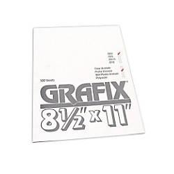 Grafix Matte Acetate Sheets 8 12 x 11 0.003 Thick Pack Of