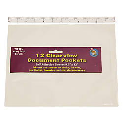 Ashley Productions Document Pockets 9 12
